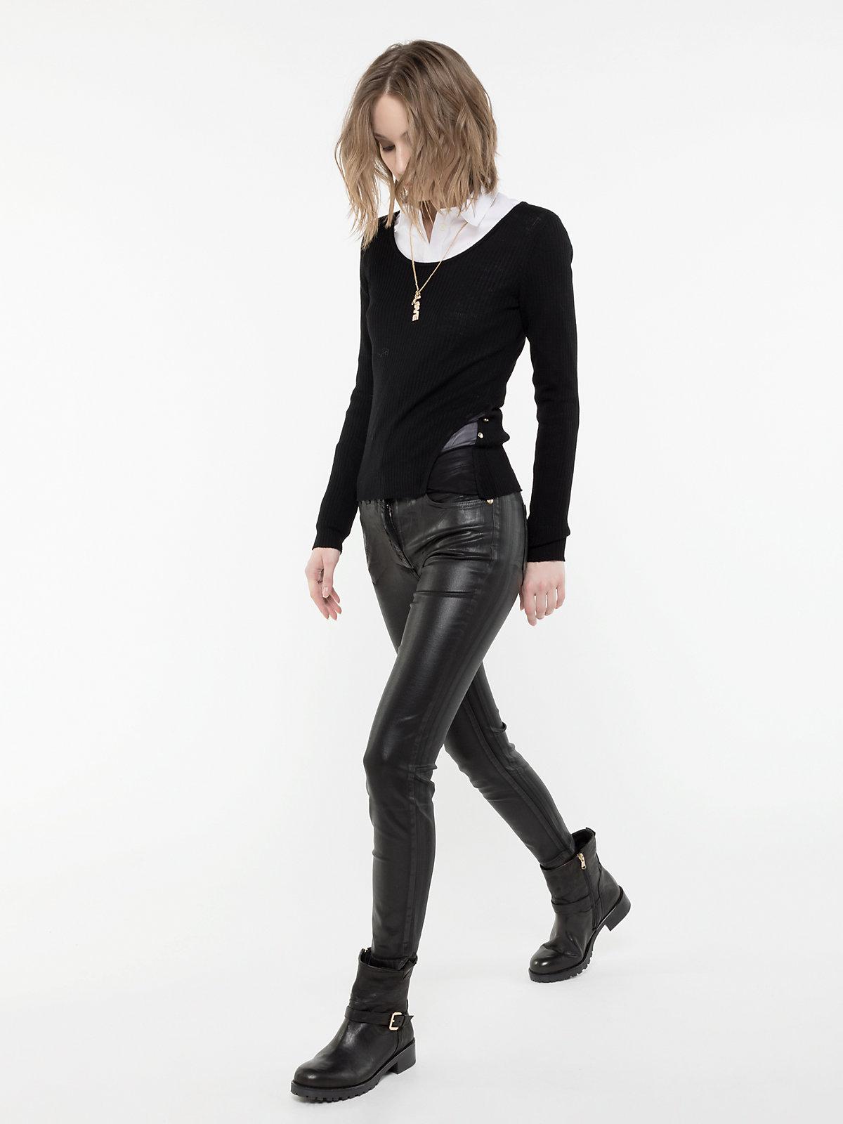 Pantaloni di pelle Patrizia Pepe a 218 euro