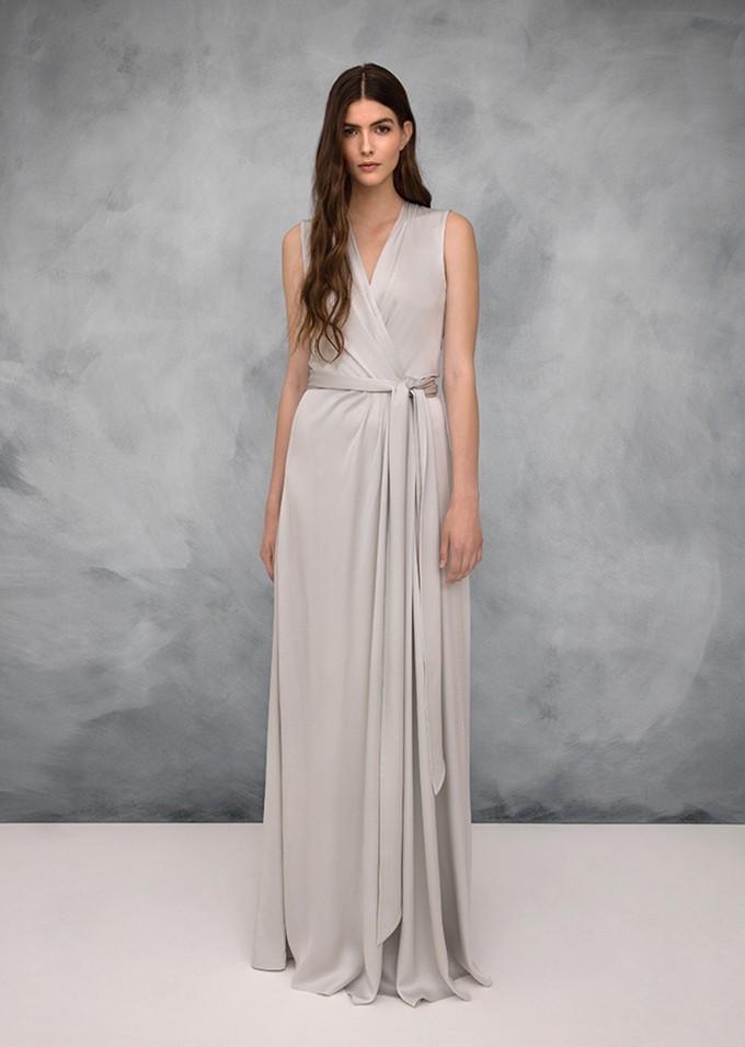 Vestito da cerimonia stile impero grigio perla Jenny Packham