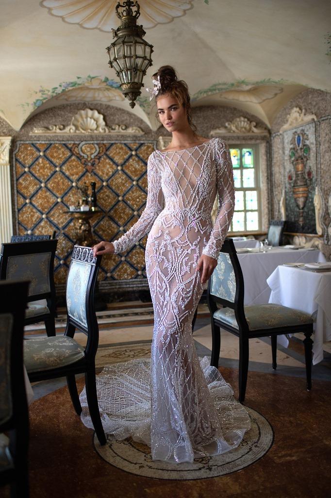 Vestito da sposa a maniche lunghe Berta