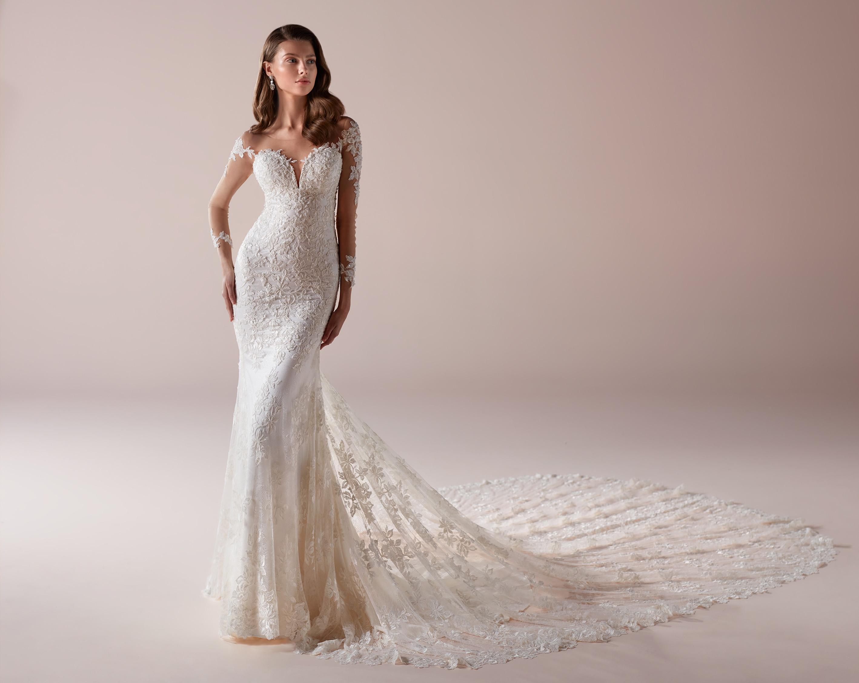 Vestito da sposa a sirena in pizzo Romance