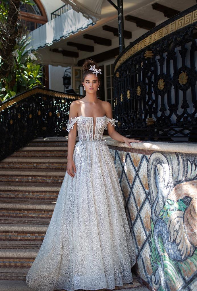 Vestito da sposa a trapezio Berta