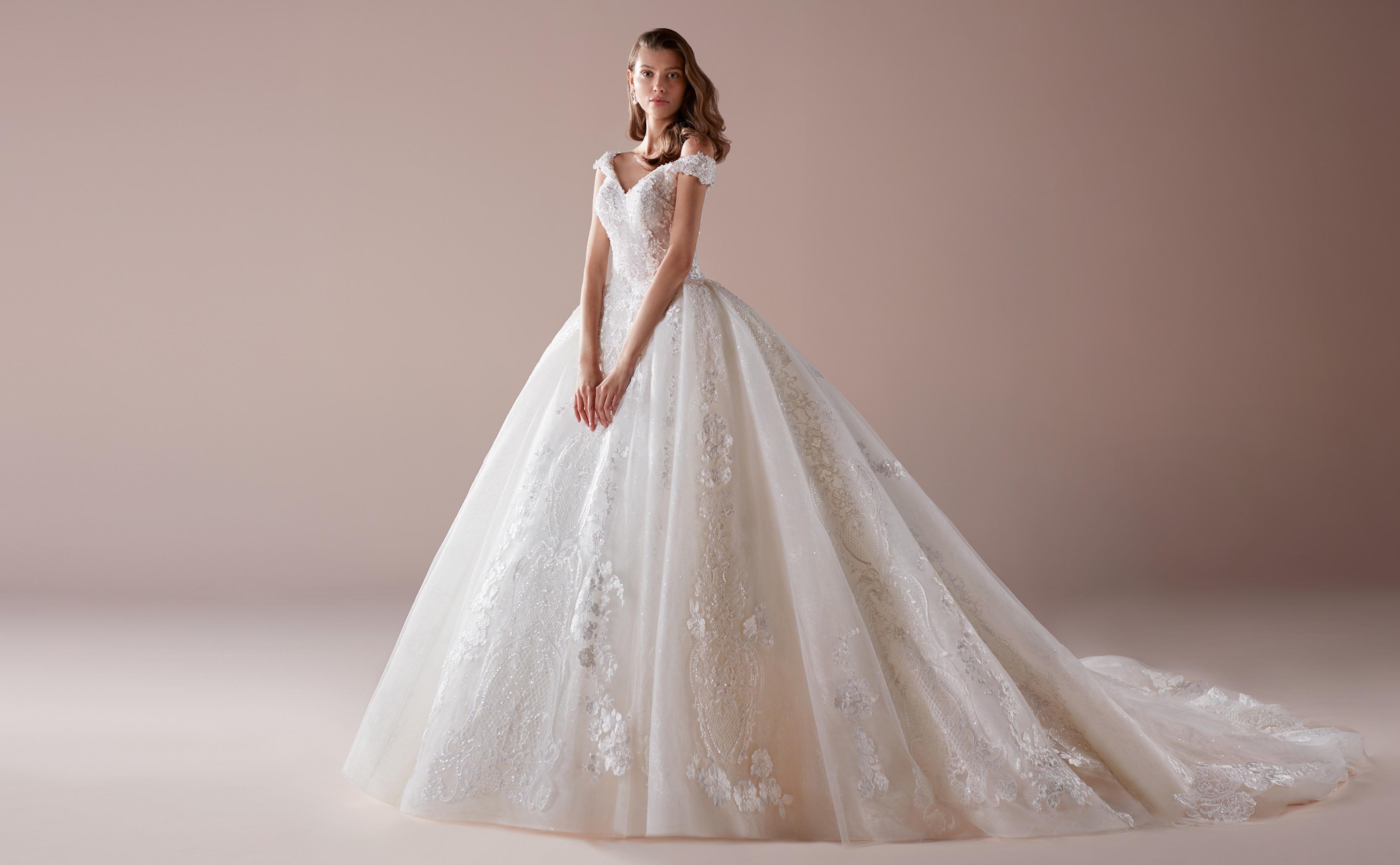 Vestito da sposa gioiello da principessa Romance