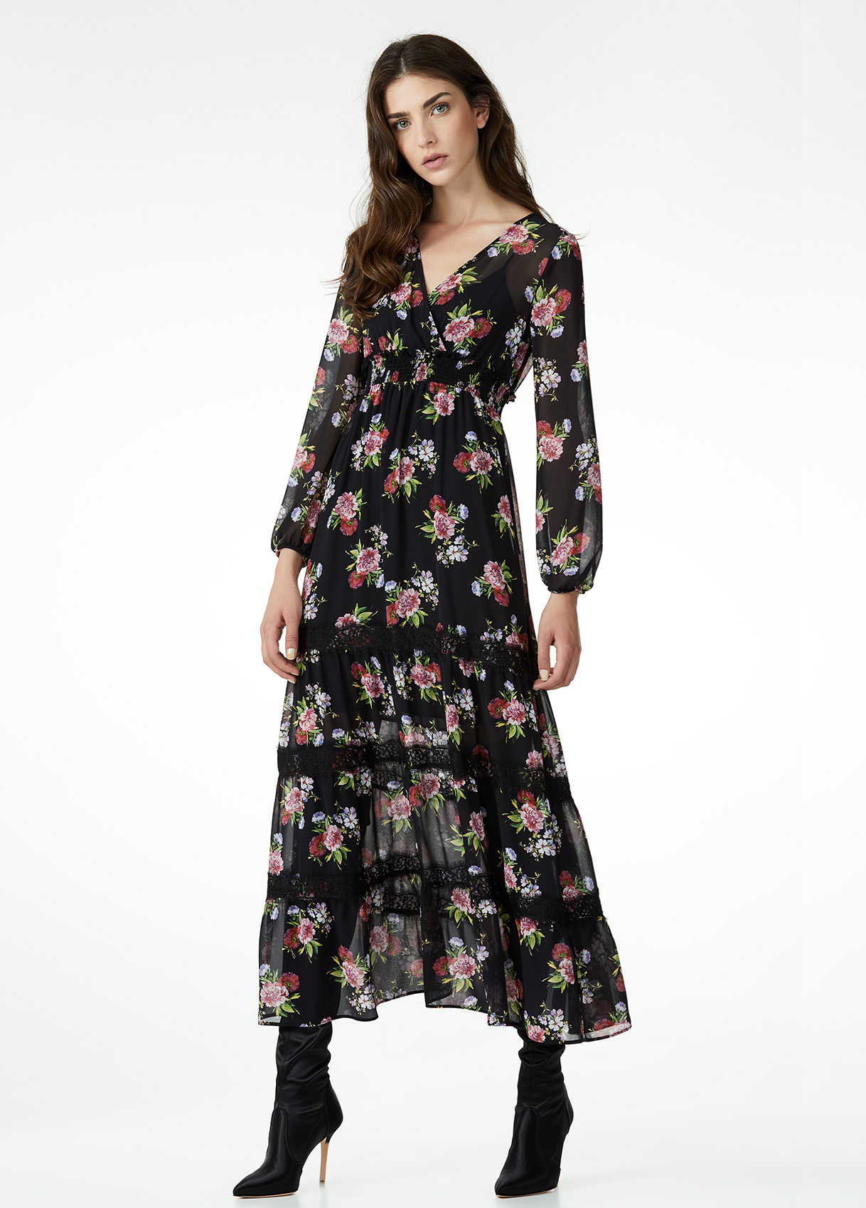 Vestito lungo a fiori Liu Jo a 199 euro