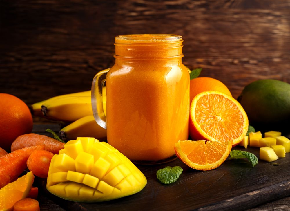 centrifugato mango carote arancia