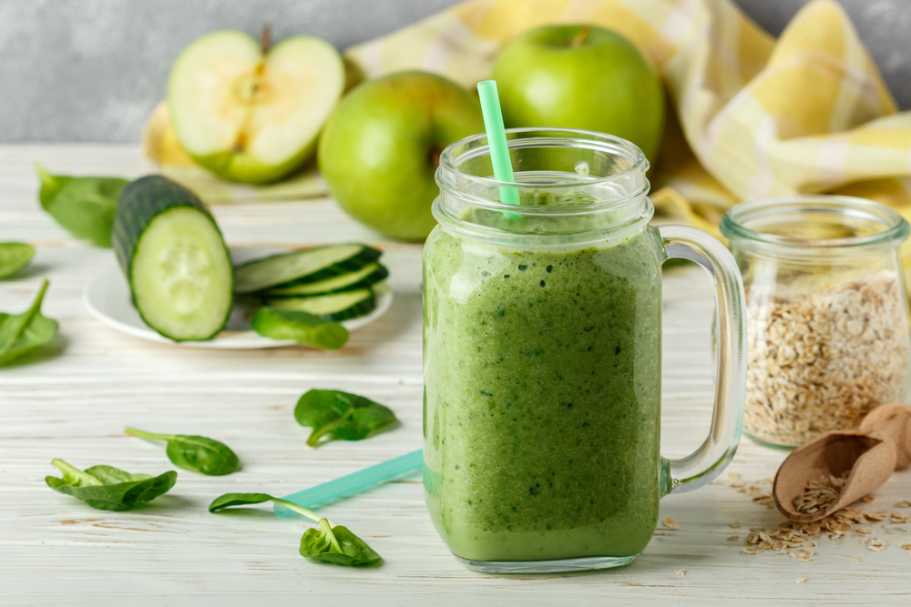 centrifugato mela verde cetriolo zenzero