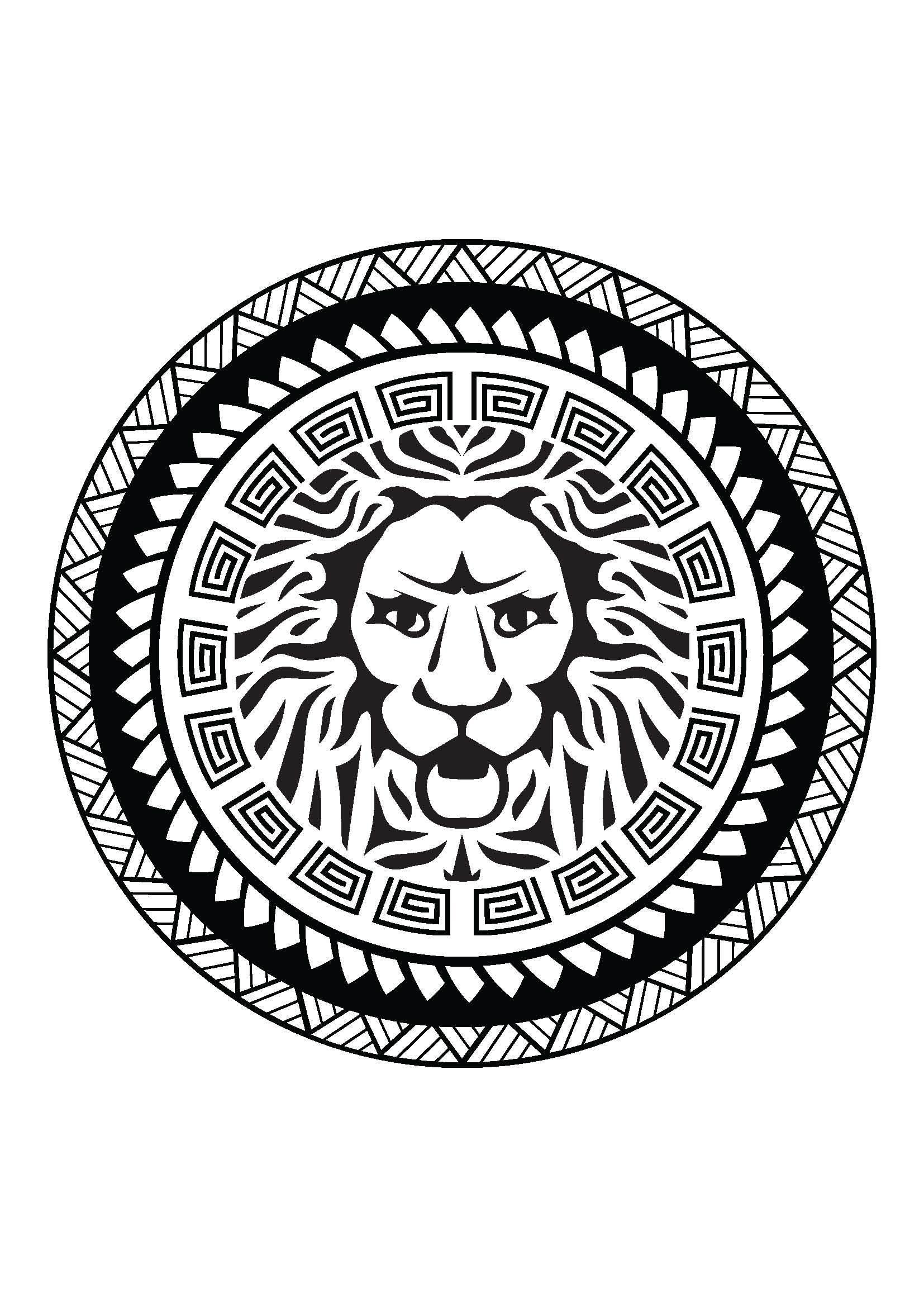 tatuaggio leone maori