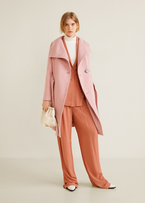 Cappotto oversize rosa Mango a 149,99 euro