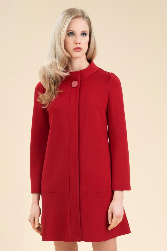 Cappotto rosso in lana Luisa Spagnoli a 490 euro