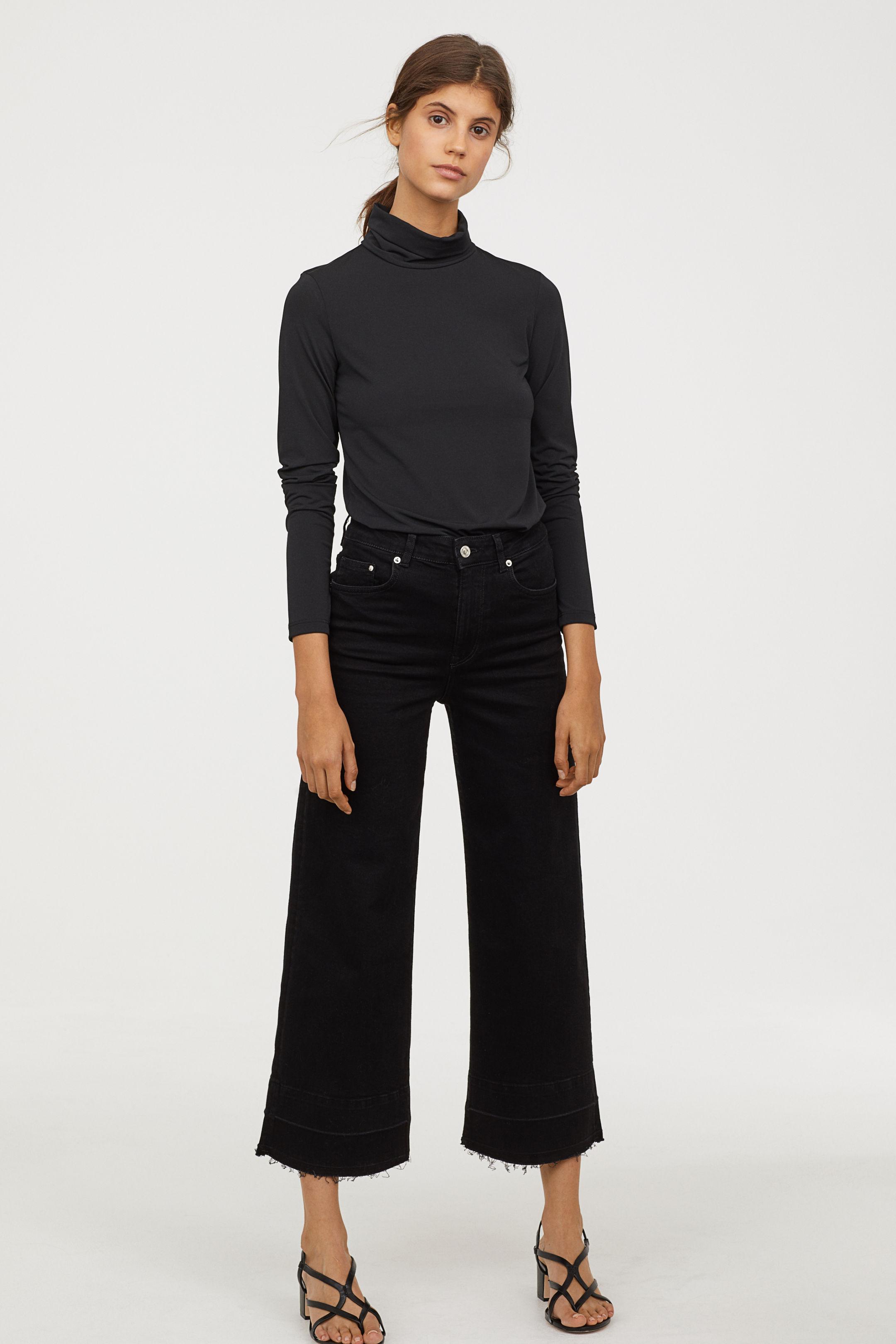 Jeans a vita alta neri H&M a 14,99 euro
