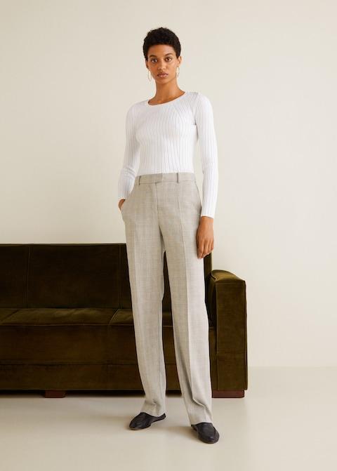 Pantaloni eleganti a quadri Mango a 49,99 euro