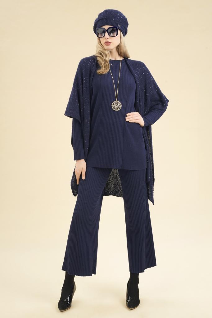 Pantaloni in lana seta a coste Luisa Spagnoli a 250 euro