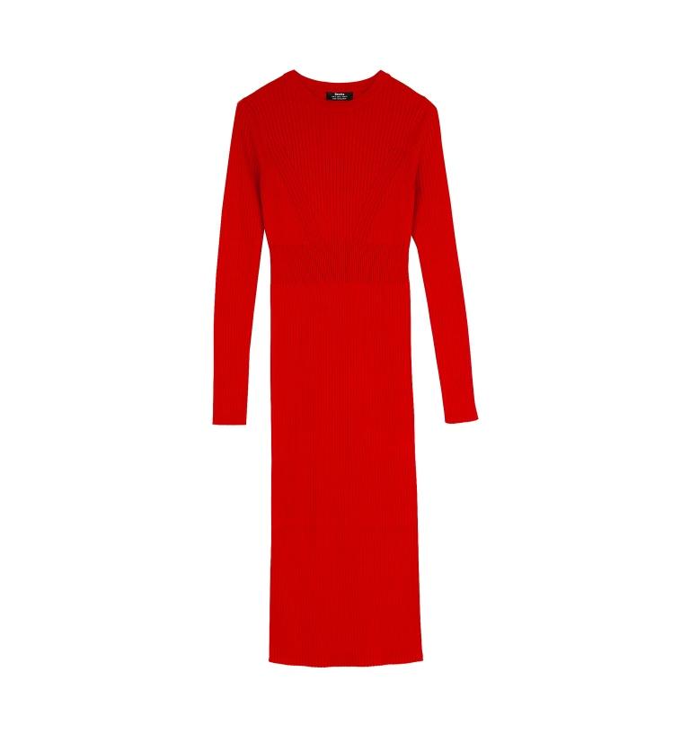 Vestito lungo rosso Bershka