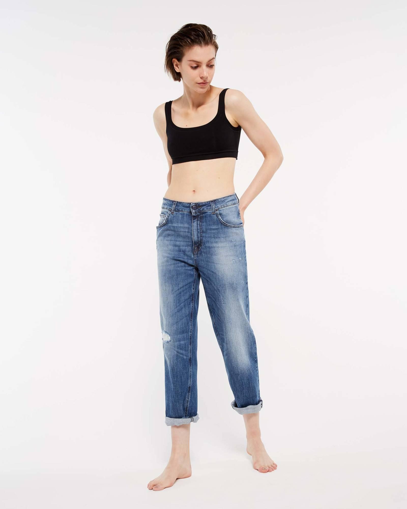 Jeans boyfriend Sisley collezione autunno inverno 2018 2019