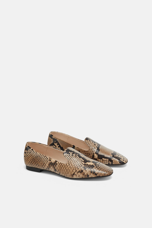Mocassini animalier Zara a 55,95 euro scarpe autunno inverno 2018 2019