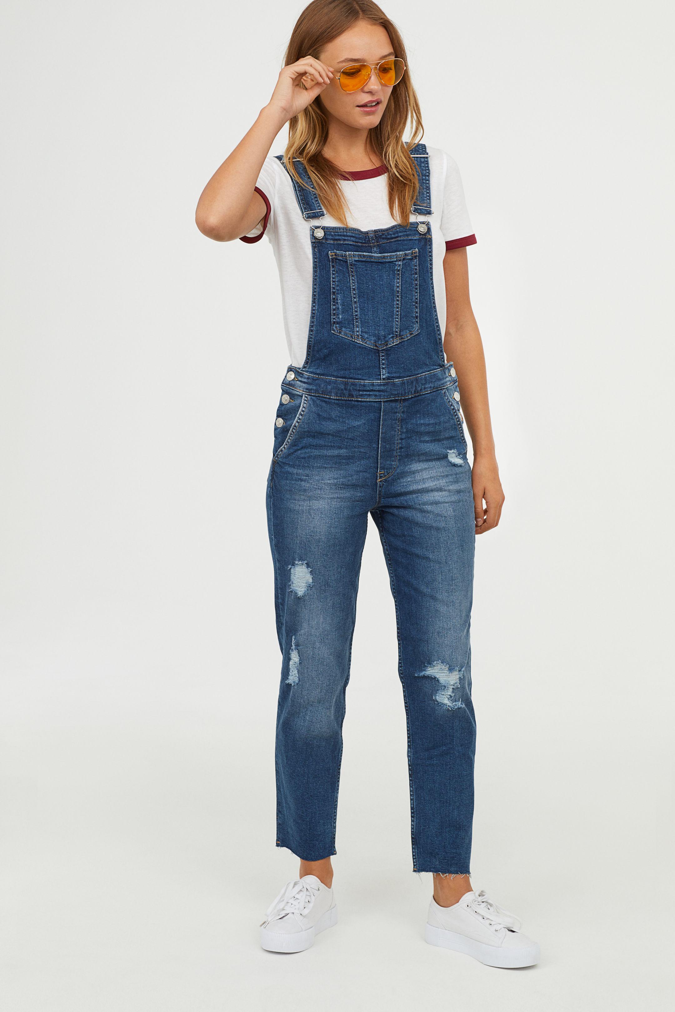 Salopette di jeans lunga H&M salopette autunno inverno 2018-2019