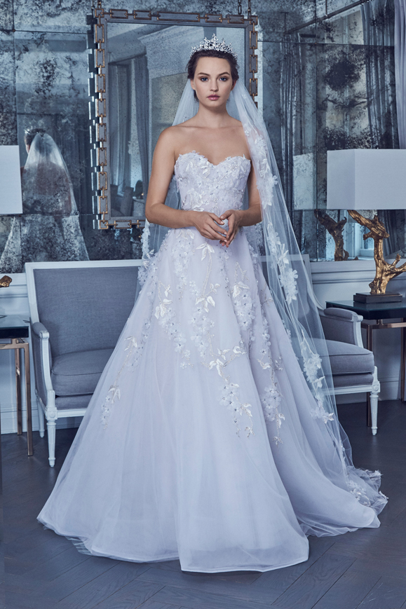 Abito da sposa da principessa in tulle Romona Keveza collezione 2019