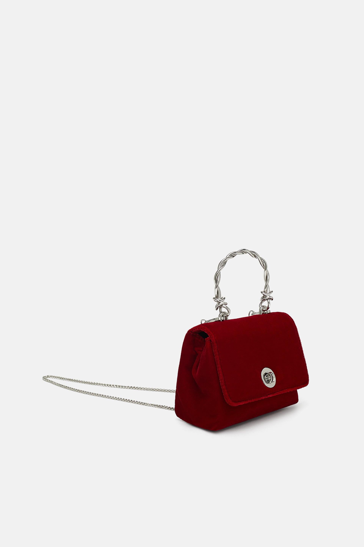 Borsa a mano in velluto Zara a 29,95 euro