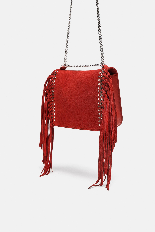 Borsa a tracolla con frange Zara a 39,99 euro