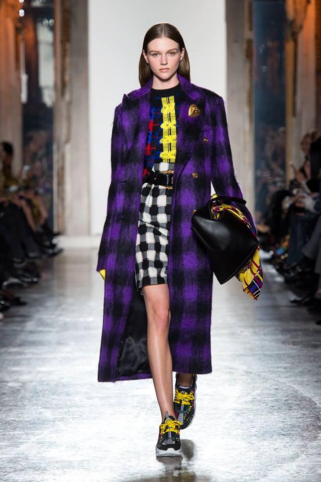 Cappotto tartan Versace inverno 2019