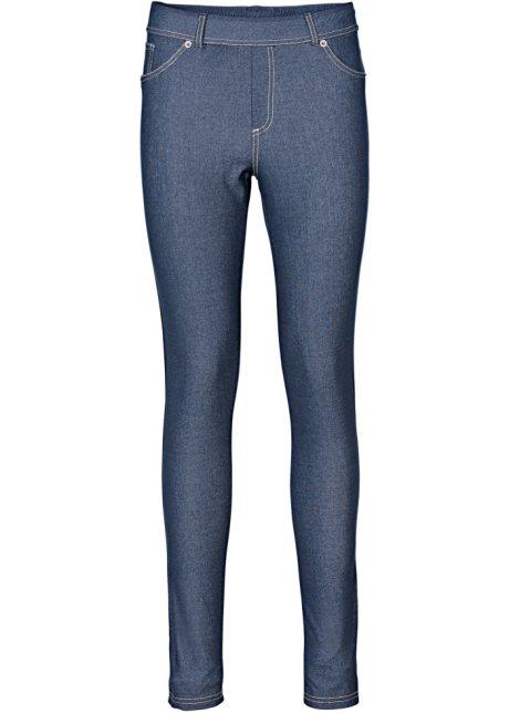 Leggings effetto jeans a vita alta Bonprix