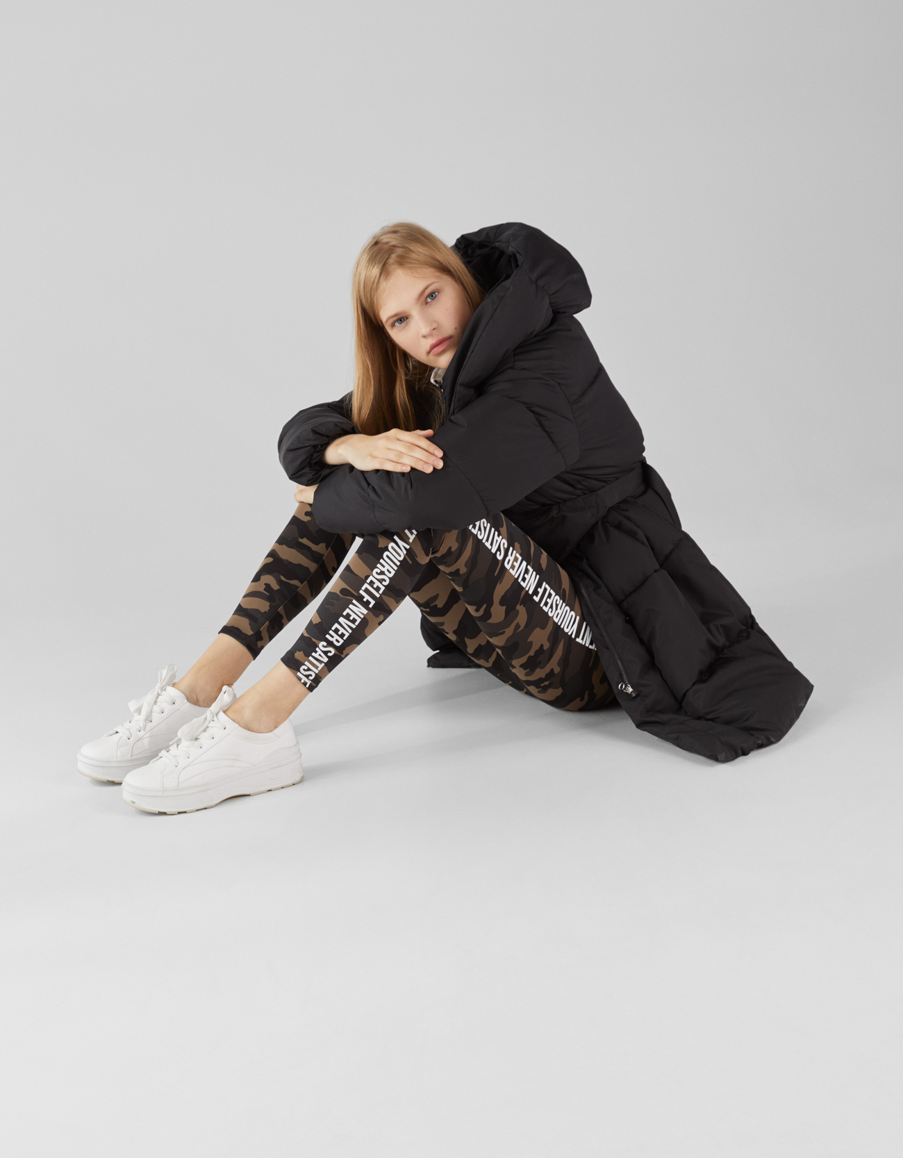 Leggings sportivi camouflage Bershka tendenze autunno inverno 2018 2019