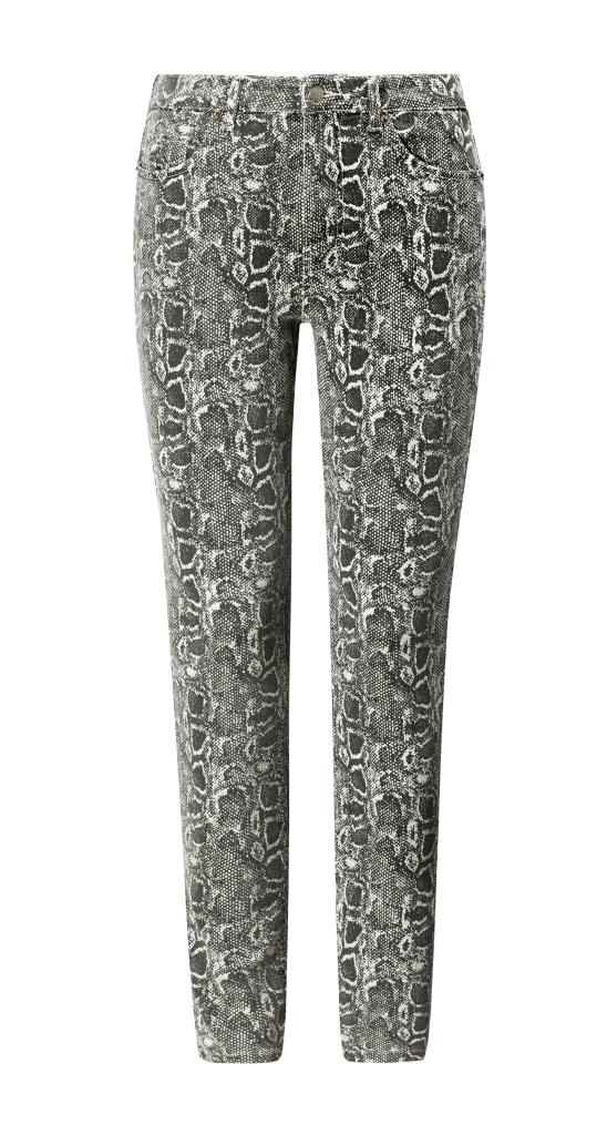 Pantaloni con stampa animalier Violeta by Mango inverno 2019