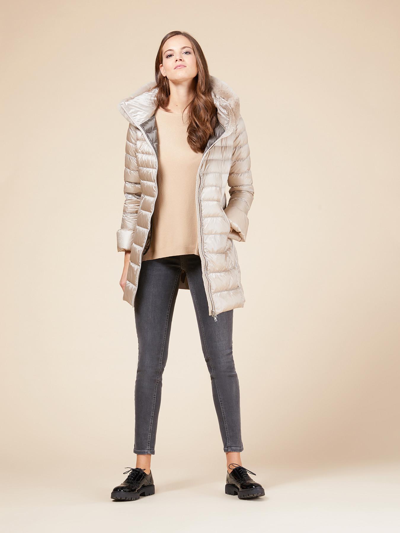 Piumino lungo con pelliccia Oltre a 199 euro autunno inverno 2018 2019