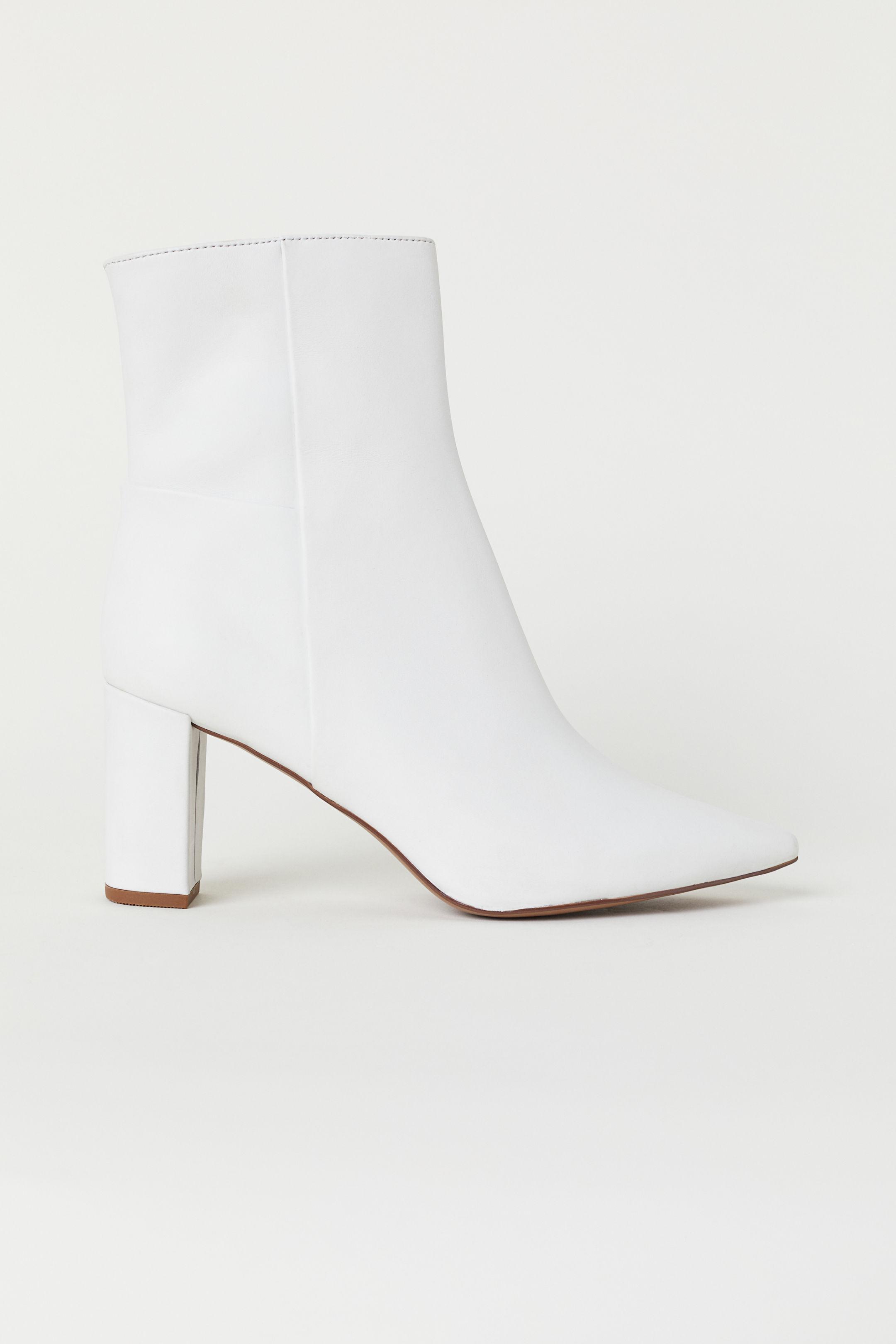 Stivaletti bianchi H&M a 69,99 euro autunno inverno 2018 2019