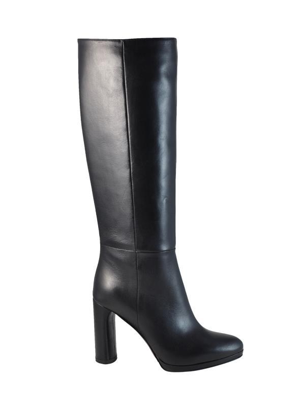 Stivali Albano con tacco neri