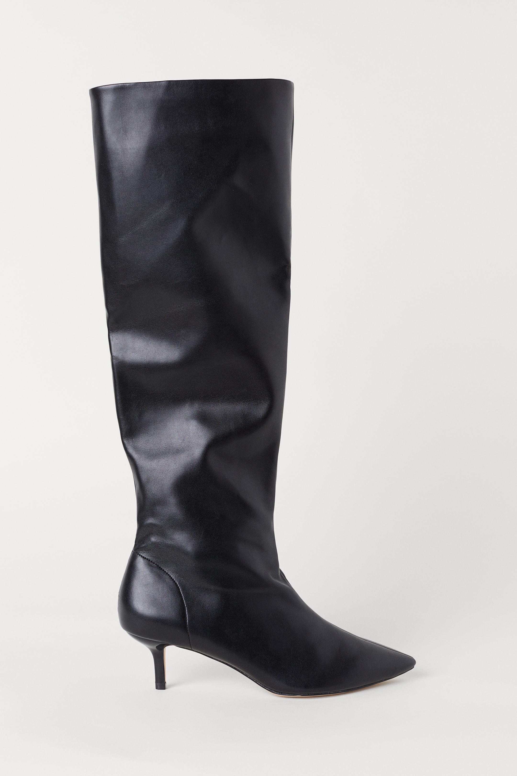 Stivali alti al ginocchio con tacco H&M a 59,99 euro