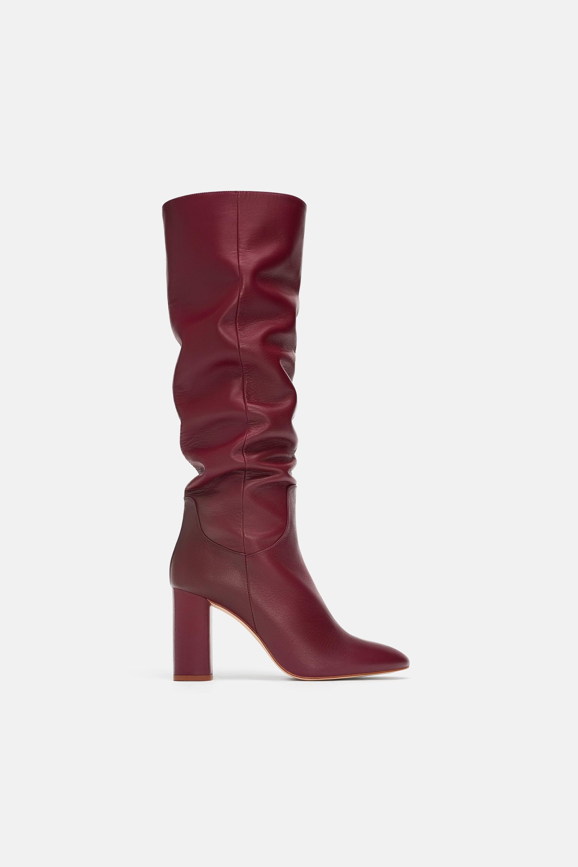 Stivali con tacco Zara