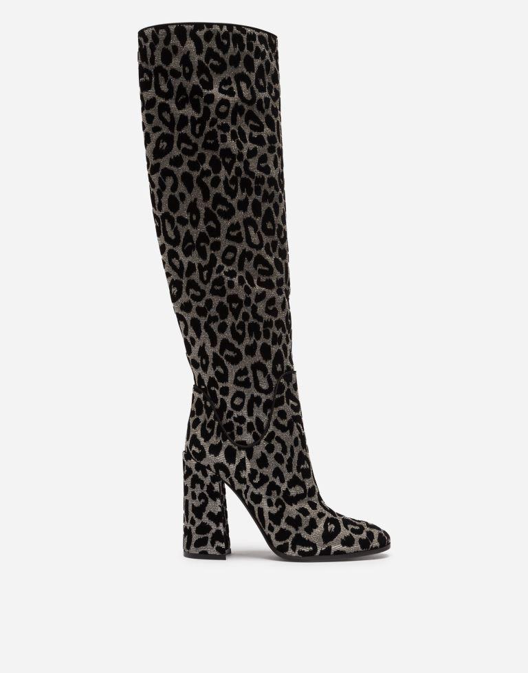 Stivali maculati con tacco Dolce & Gabbana