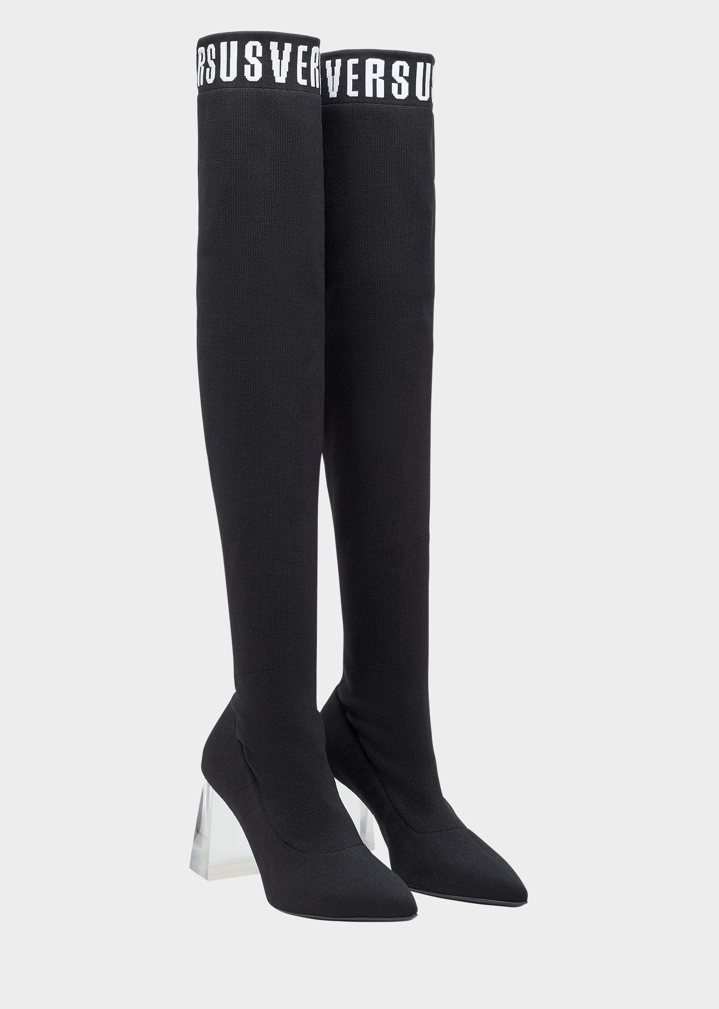 Stivali sopra il ginocchio Versace
