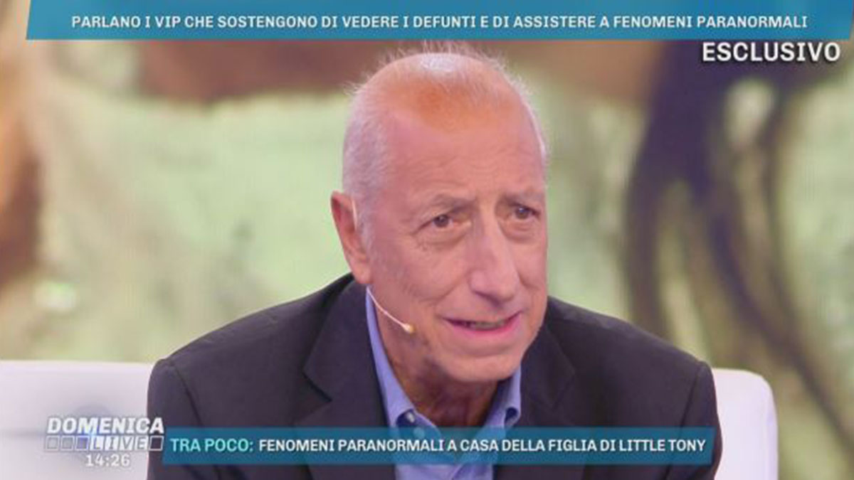 Pippo Franco a Domenica Live: 'Ho chiesto una grazia, l'ho ottenuta'
