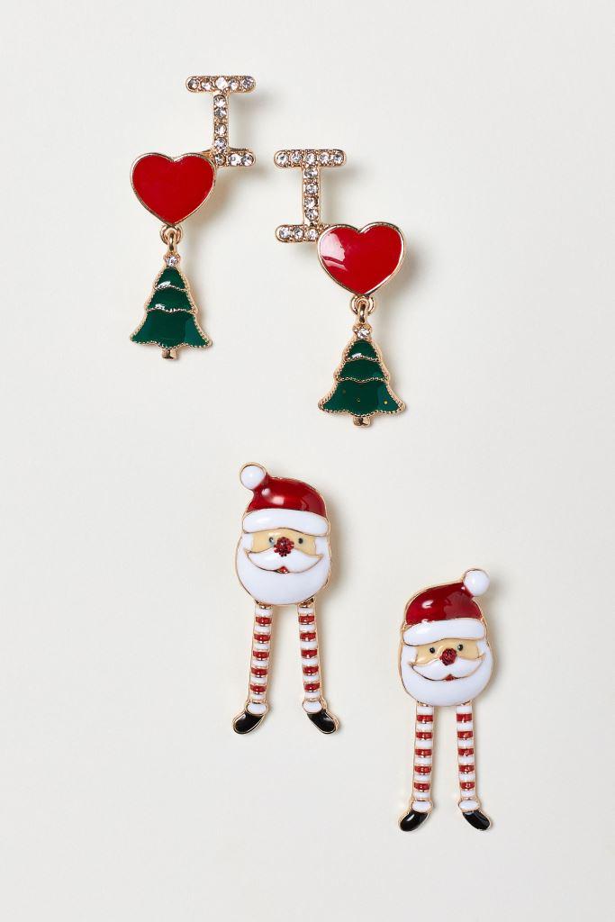 Orecchini natalizi H&M regali natale 2018