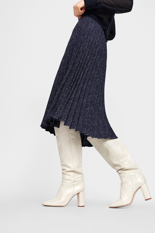 Stivali cuissard e gonna lunga Zara