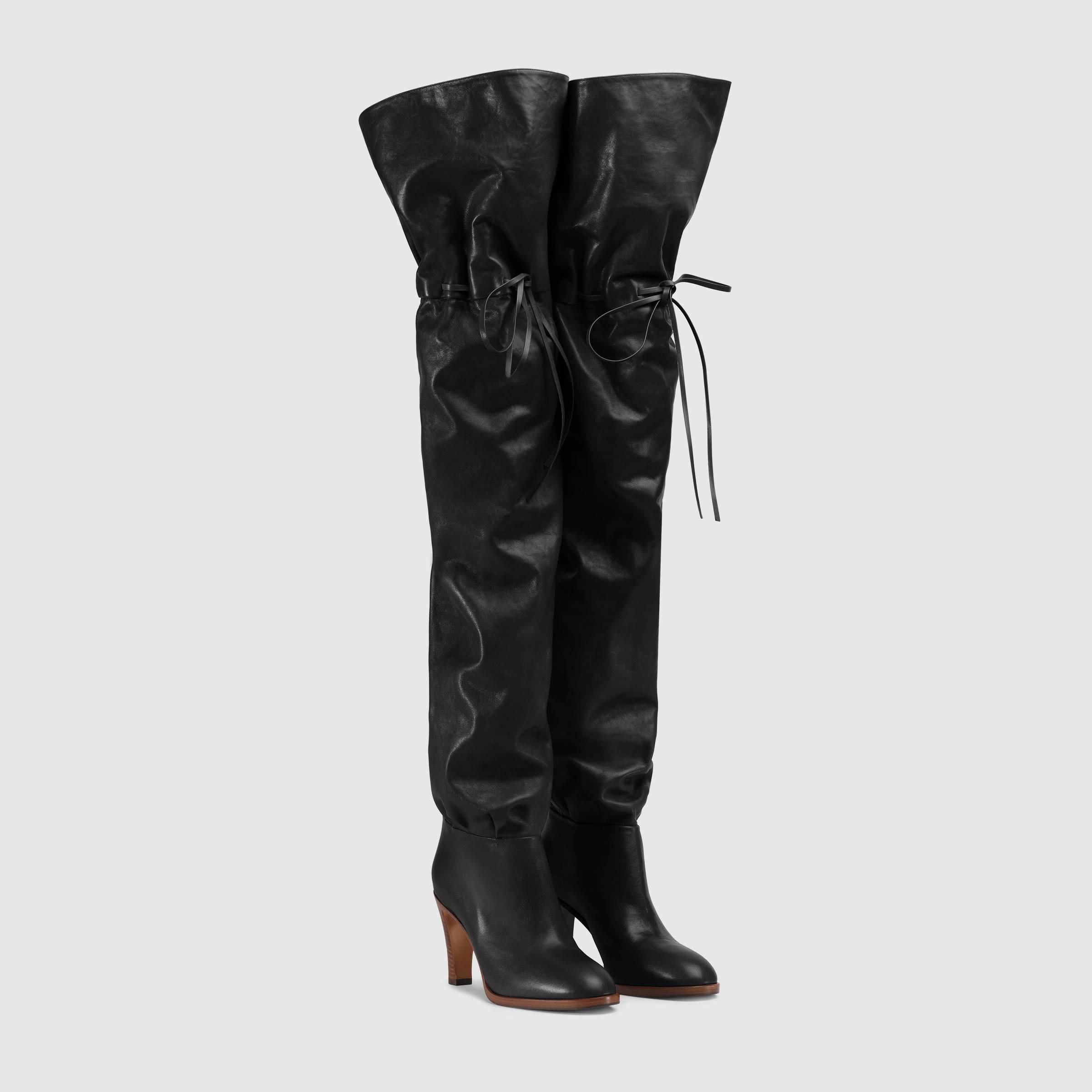 Stivali cuissard sopra il ginocchio Gucci