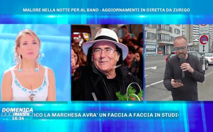 Malore per Albano, il cantante salta la puntata di Domenica Live