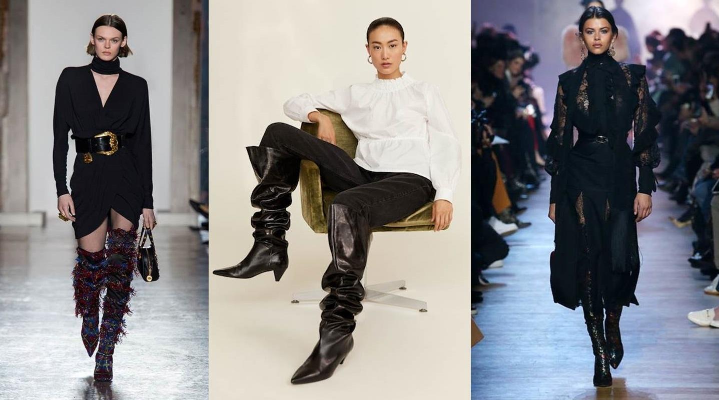 Stivali sopra al ginocchio e alla coscia, come abbinarli e i modelli più belli della stagione