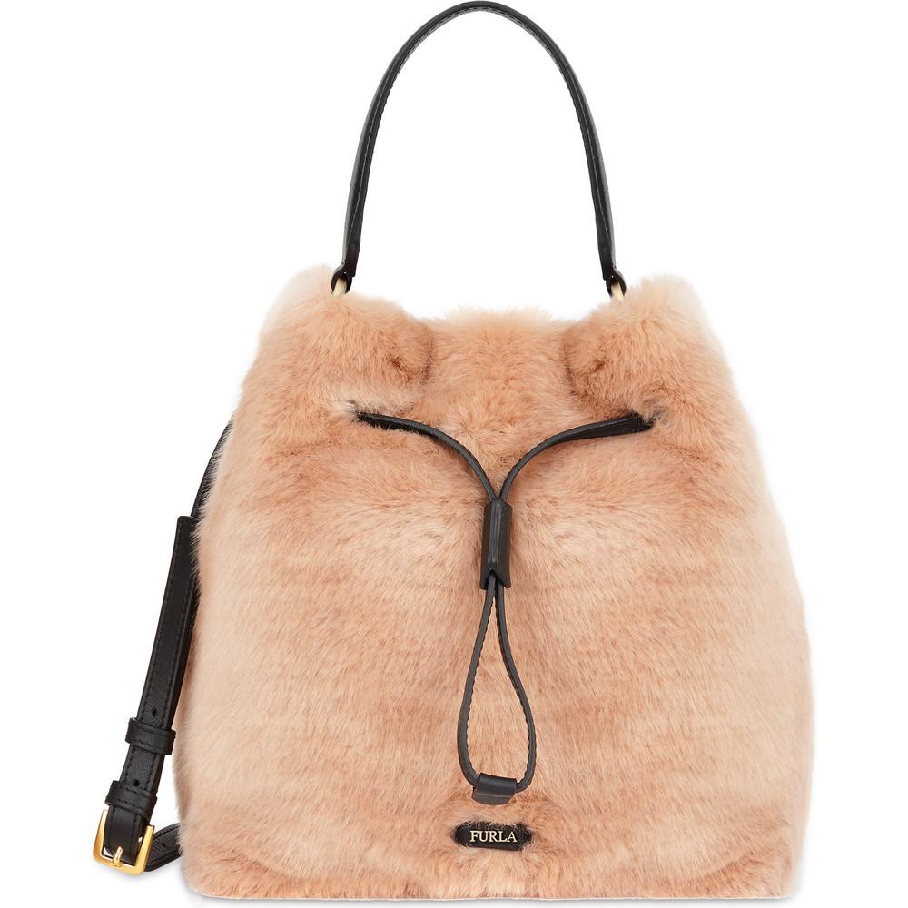 Borsa a sacca Furla in pelliccia inverno 2019