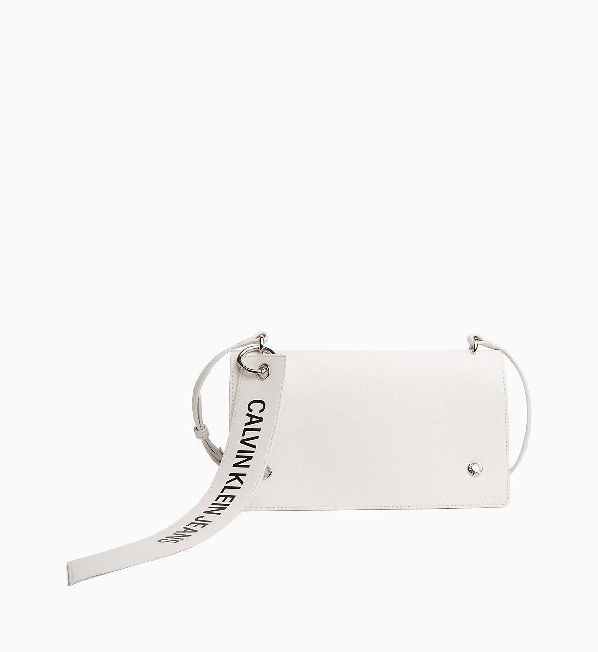 Borsa a tracolla bianca Calvin Klein inverno 2019