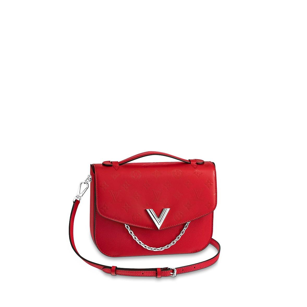 Borsa a tracolla rossa Louis Vuitton inverno 2019