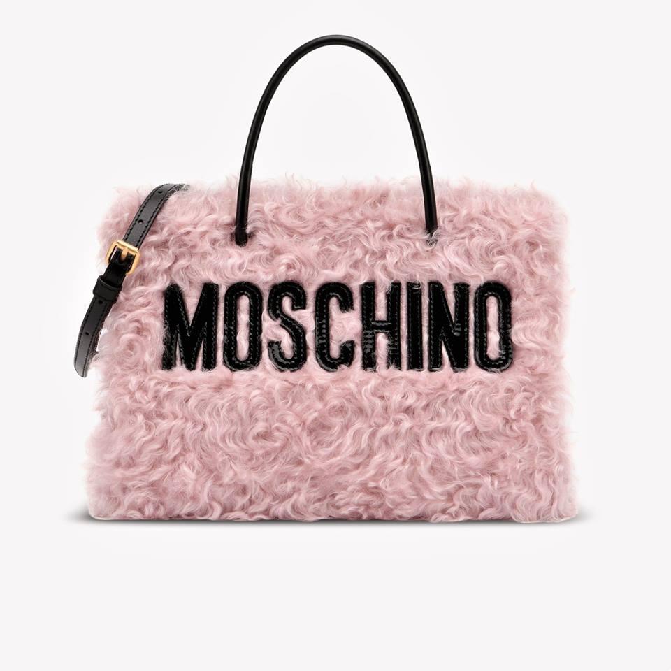 Borsa in lana bouclé Moschino tendenza inverno