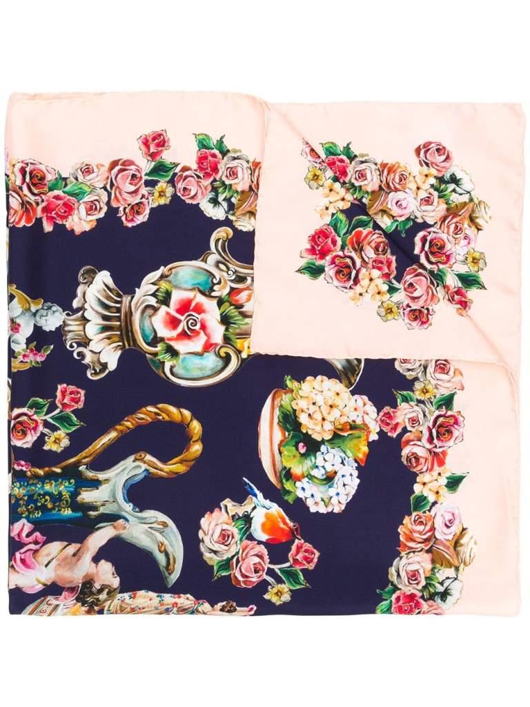 Foulard in seta Dolce & Gabbana regali natale mamma
