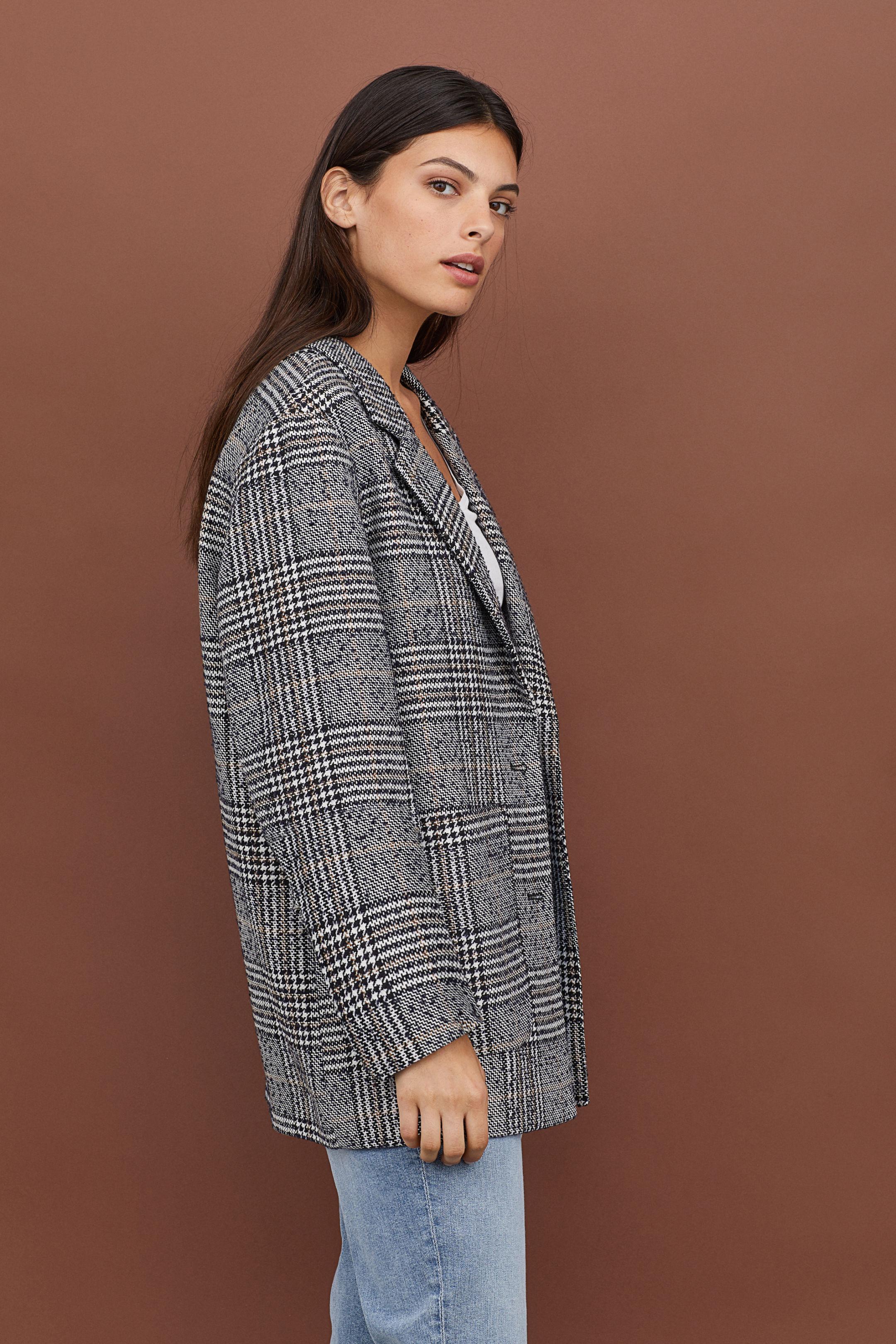 Giacca a quadri oversize H&M