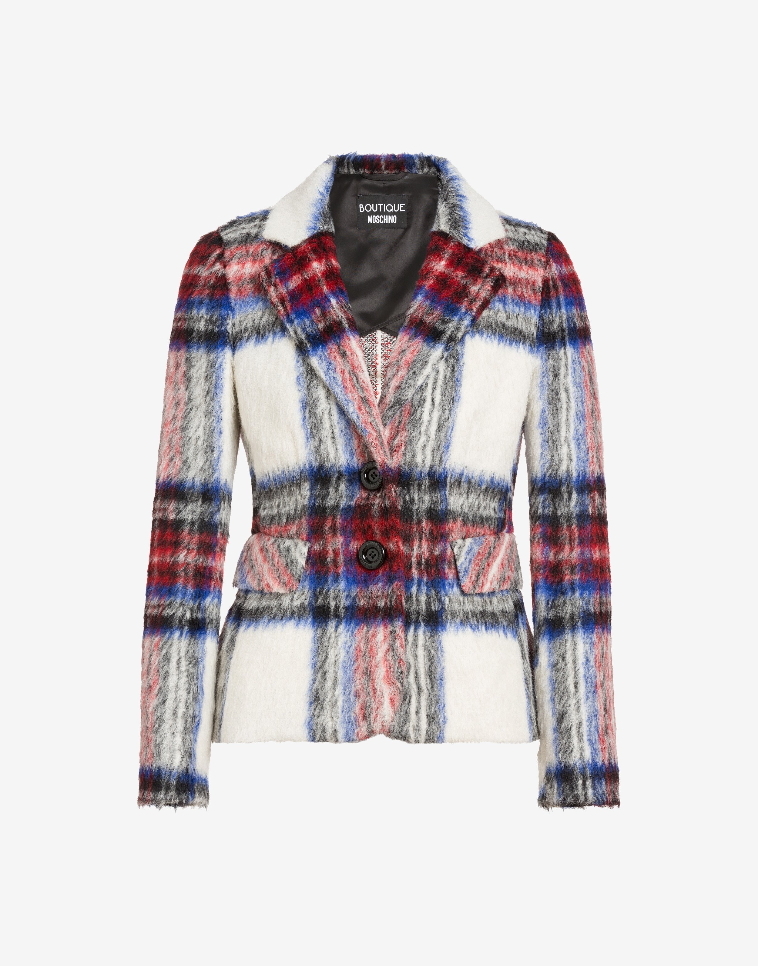 Giacca di lana a quadri Boutique Moschino