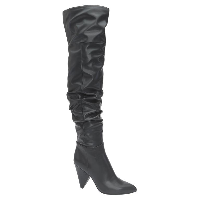 Stivali Bata sopra il ginocchio stivali con tacco inverno 2019