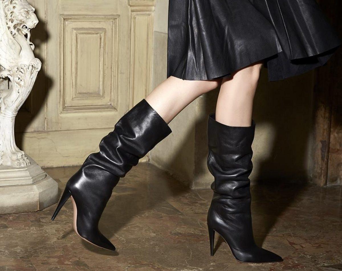 Stivali coscia con tacco largo con plateau | Stivali tacco