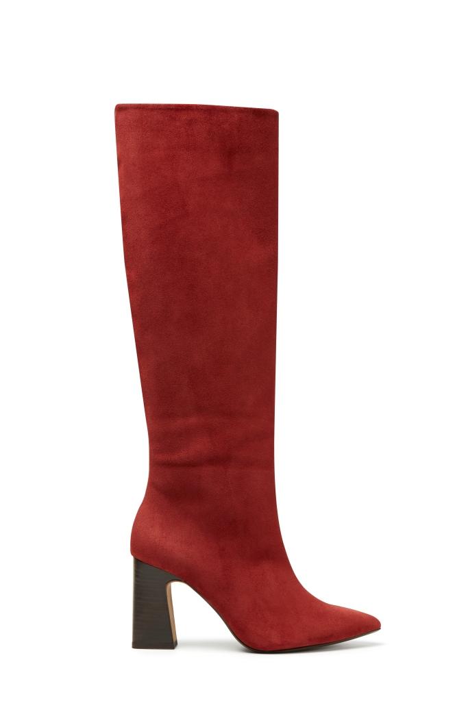 Stivali rossi alti Violeta by Mango