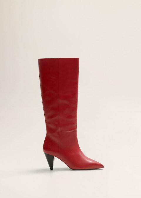 Stivali rossi con tacco Mango inverno 2019